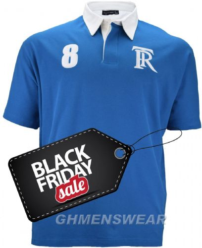 ROWAN TREE  Rugby Style Polo Shirt - ROYAL BLUE